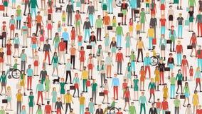 Muchedumbre de gente ilustración del vector