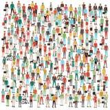 Muchedumbre de gente Imagenes de archivo