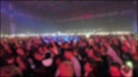 Muchedumbre de gente anónima en el concierto