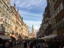 Muchedumbre de gente en Gdansk Polonia Fotografía de archivo