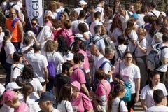 Muchedumbre de gente Visto desde arriba Foto de archivo