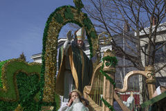 Muchedumbre de la bendición de St Patrick, desfile del día de St Patrick, 2014, Boston del sur, Massachusetts, los E.E.U.U. Foto de archivo