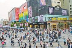 Muchedumbre de las compras Fotografía de archivo