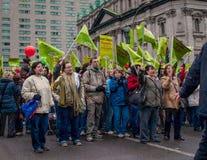 Muchedumbre de manifestación fotos de archivo libres de regalías