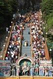 Muchedumbre de Thaipusam imagen de archivo libre de regalías