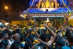 Muchedumbre de Thaipusam Foto de archivo libre de regalías