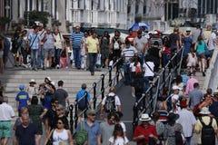 Muchedumbre de turistas en Venecia, Italia Fotografía de archivo libre de regalías
