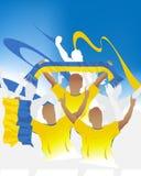Muchedumbre de Ucrania ilustración del vector