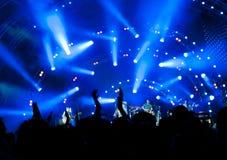 Muchedumbre de ventiladores en un concierto Fotografía de archivo