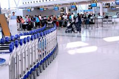 Muchedumbre del aeropuerto Foto de archivo