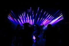 Muchedumbre del baile Fotografía de archivo
