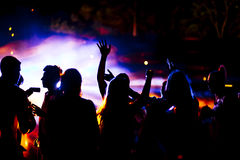 Muchedumbre del baile Fotos de archivo libres de regalías