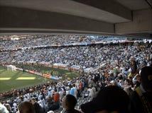 Muchedumbre del balompié o del fútbol Foto de archivo libre de regalías