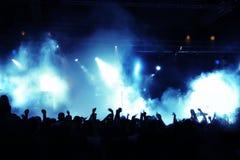 Muchedumbre del concierto Fotografía de archivo