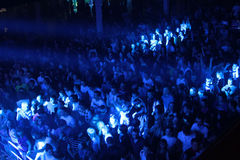 Muchedumbre del festival en la onda urbana fistival el 16 de abril de 2011 en Minsk, Bielorrusia Imagen de archivo