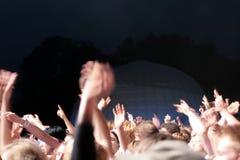 Muchedumbre del partido Foto de archivo libre de regalías