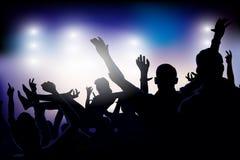 Muchedumbre del partido del vector Fotos de archivo