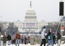 Muchedumbre durante la inauguración de Donald Trump Foto de archivo