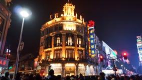 Muchedumbre en el camino Shangai de Nanjing Foto de archivo libre de regalías