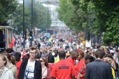 Muchedumbre en el carnaval de Notting Hill Fotos de archivo