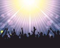Muchedumbre en el concierto Imágenes de archivo libres de regalías
