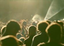 Muchedumbre en el concierto Fotografía de archivo libre de regalías