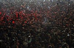 Muchedumbre en el concierto Foto de archivo libre de regalías
