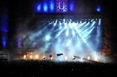 Muchedumbre en el concierto Fotografía de archivo