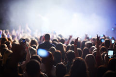 Muchedumbre en el festival Imagen de archivo libre de regalías