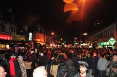 Muchedumbre en el paseo 2015 y el desfile del zombi de Toronto Foto de archivo