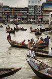 Muchedumbre en el río Foto de archivo
