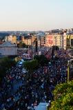 Muchedumbre en festival proveído de gas del hombre Fotografía de archivo