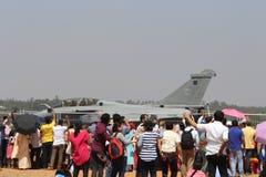 Muchedumbre en la aero- demostración 2017 de la India Foto de archivo libre de regalías