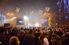 Muchedumbre en la calle 1 Foto de archivo libre de regalías