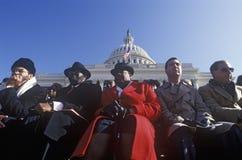 Muchedumbre en la inauguración de Bill Clinton Foto de archivo