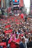Muchedumbre en Times Square Fotografía de archivo libre de regalías