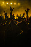 Muchedumbre en un concierto Foto de archivo libre de regalías