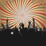 Muchedumbre en un concierto 2 Imagen de archivo libre de regalías