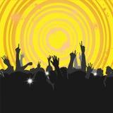 Muchedumbre en un concierto 3 Imagen de archivo libre de regalías