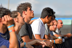 Muchedumbre en un concierto en el festival de la BOLA Fotografía de archivo
