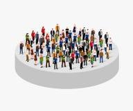 Muchedumbre grande de la gente en círculo Concepto de la sociedad stock de ilustración