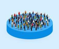 Muchedumbre grande de la gente en círculo Concepto de la sociedad ilustración del vector