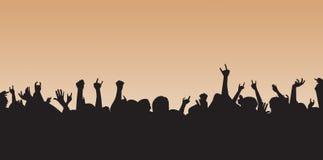 Muchedumbre loca Imagen de archivo libre de regalías