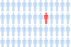 Muchedumbre masculina del icono Fotos de archivo