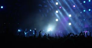 Muchedumbre que aplaude en el festival de música almacen de video