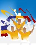 Muchedumbre rumana stock de ilustración