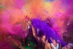 Muchedumbre tirada con color Imágenes de archivo libres de regalías