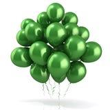 Muchedumbre verde de los globos Foto de archivo