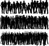 Muchedumbres de gente Fotos de archivo