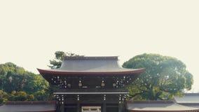 Muchedumbres de turistas en Meiji Shrine en Shibuya, Tokio almacen de metraje de vídeo